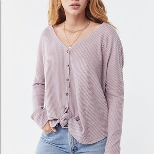 UO jojo oversized button-front top